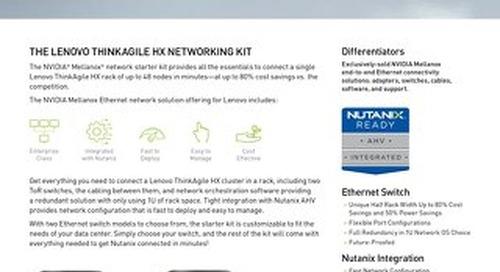 Network Starter Kit for Lenovo ThinkAgile HX