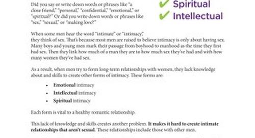 13 Intimacy