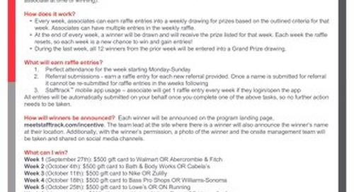 Peak Season Incentive Program FAQs