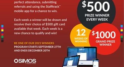 Peak Incentive Program Prizes Poster