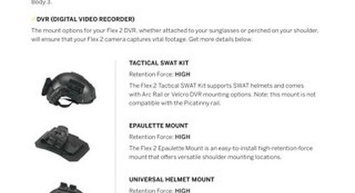 Axon Flex 2 Camera Mounts - A Guide