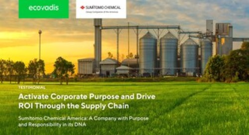 Activate Corporate Purpose and Drive ROI through the Supply Chain