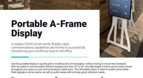 Portable A-Frame Display