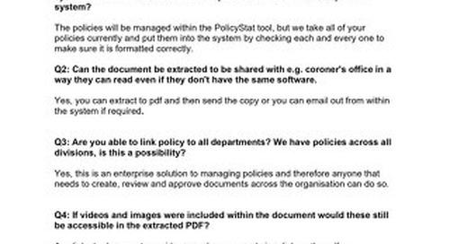 RLDatix PolicyStat Demo Session Q&A