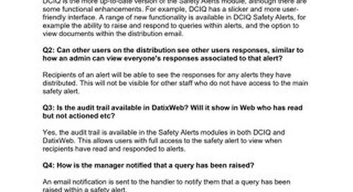RLDatix Safety Alerts Demo Session Q&A