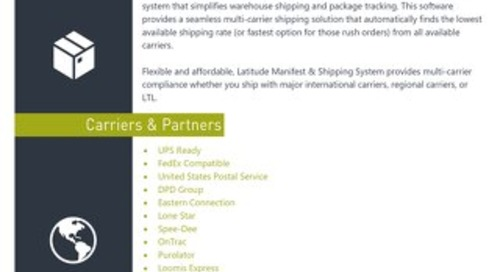 Latitude Manifest & Shipping Highlights