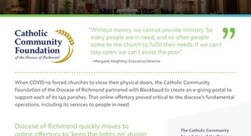 Catholic Community Foundation of the Diocese of Richmond Customer Story