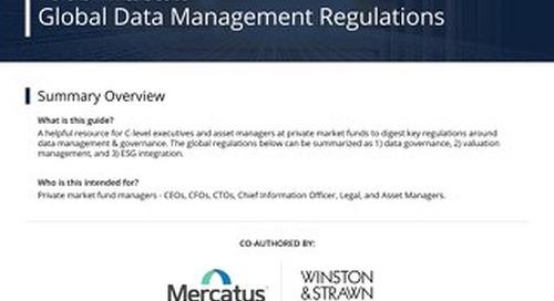 Global Data Management Regulations - Sept 28 2020