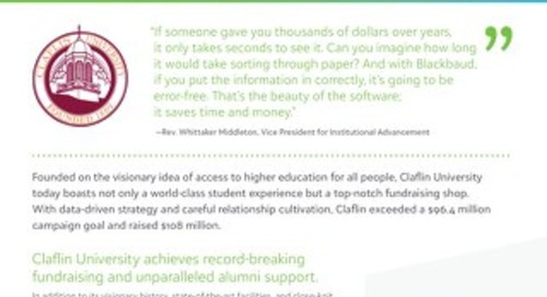Success Story: Claflin University