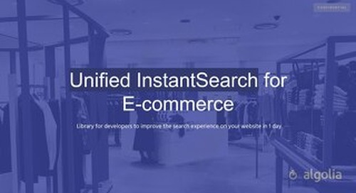 Unified InstantSearch for ecommerce