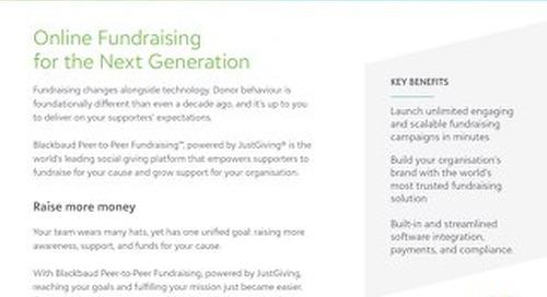 Introducing Blackbaud Peer-to-Peer Fundraising™, powered by JustGiving®