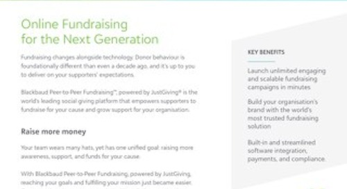 Introducing JustGiving® from Blackbaud®
