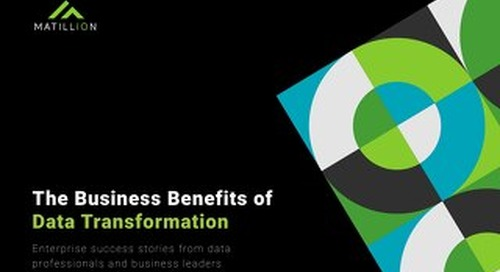 The Business Value of Data Transformation