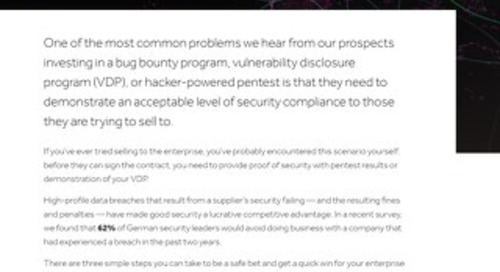 How To Grow Your Business With Hacker Powered Security - GER