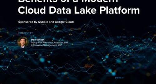 Benefits of Modern Cloud Data Lake Platform Qubole GCP
