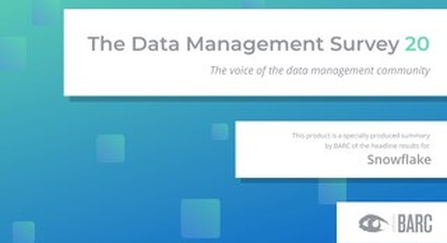 BARC: The Data Management Survey 2020
