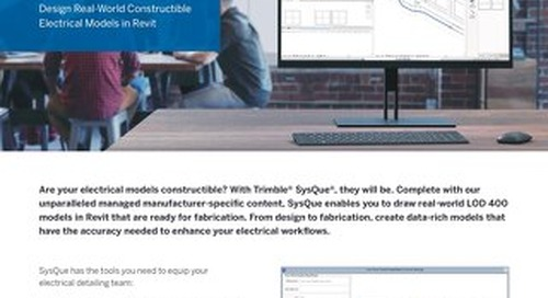 SysQue Electrical One-Pager