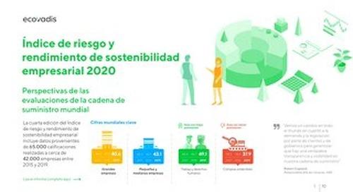 Infografía: Índice de riesgo y rendimiento de sostenibilidad empresarial 2020