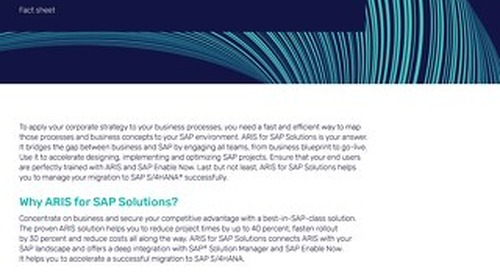 Fact Sheet: ARIS for SAP® Solutions