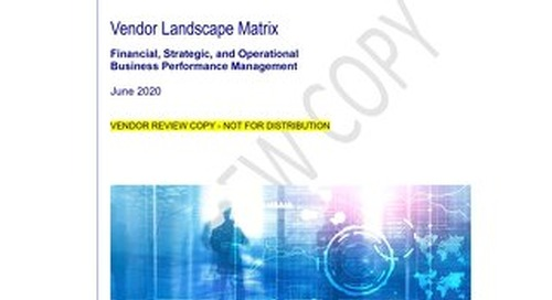 Vendor Landscape Matrix - June 2020 Official v01 PREVIEW