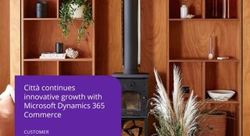 Città continues innovative growth with Dynamics 365 Commerce