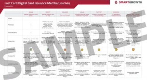 DCI Sample Lost Card Member Journey Map