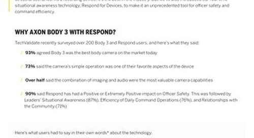 Axon Body 3 + Respond for Devices Customer Reactions