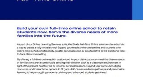 Full-Time Online Learning