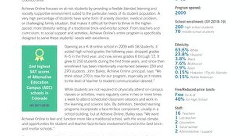Achieve Online (CO): Full-Time Online & Blended School
