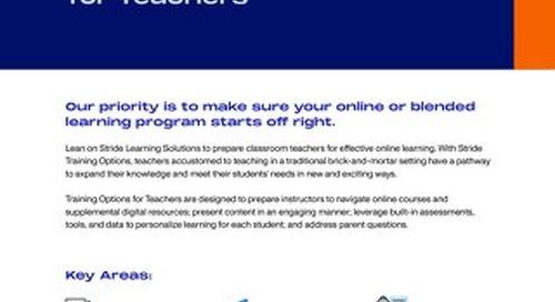 Training Options for Teachers