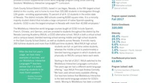 Clark County School District (NV): Middlebury World Language Program