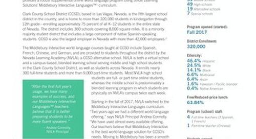 Clark County School District (NV): Middlebury World Language Program
