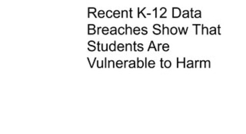 GAO K-12 Data Breaches