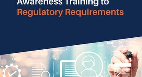 Mapping Security Awareness Training to Regulatory Requirements