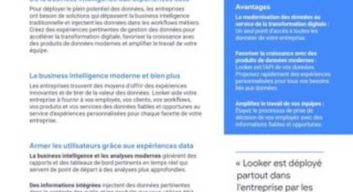 Plateforme de données et d'analyse Looker