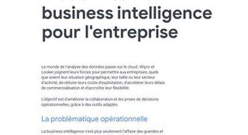 Moderniser la business intelligence pour l'entreprise