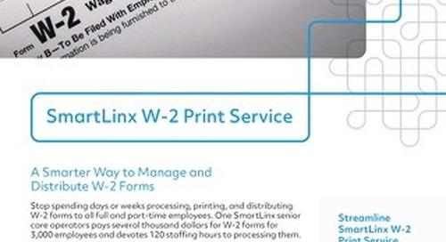 SmartLinx W-2 Print Service