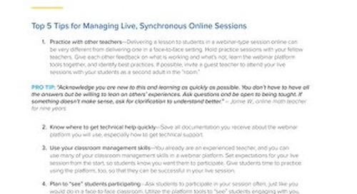 Tips for New Online Teachers