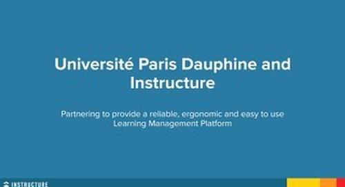 Université Paris Dauphine and Instructure