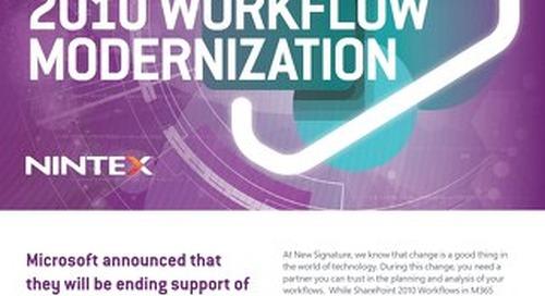 NS:GO SharePoint 2010 Workflow Modernization 2020 Flyer Nintex