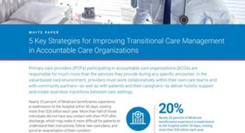 5 Key Strategies for Improving Transitional Care Management in ACOs