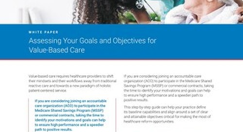 Assessing Your Goals and Objectives for Value-Based Care