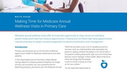 Making Time for Medicare Annual Wellness Visits in Primary Care