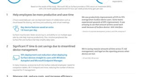 Improve Productivity and Cut Costs with Surface and Microsoft 365