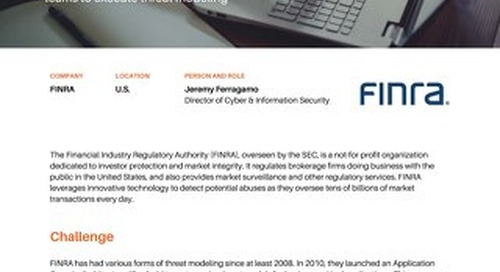 FINRA Leverages SD Elements to Mitigate Risks and Improve Time to Market