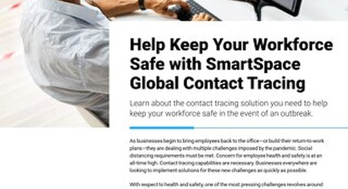 Keep Your Workforce Safe with SmartSpace Global Contact Tracing