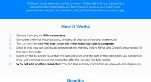Fivetran 14-Day Free Connector Trial