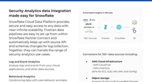 Fivetran for Snowflake Security Data Lake