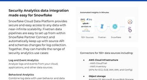 Fivetran for Snowflake Security Data Lake