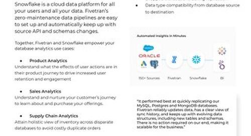 Fivetran for Snowflake - Database Analytics